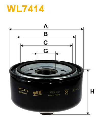 WIX OIL FILTER - SPIN-ON WL7414