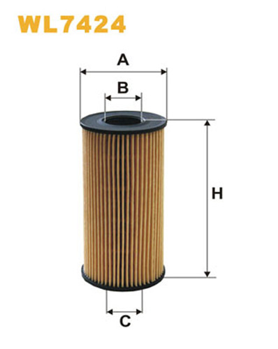 WIX OIL FILTER ECO CARTRIDGE WL7424