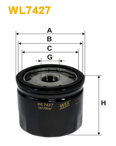 WIX OIL FILTER - SPIN-ON WL7427
