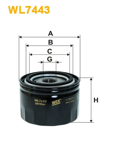 WIX OIL FILTER - SPIN-ON WL7443