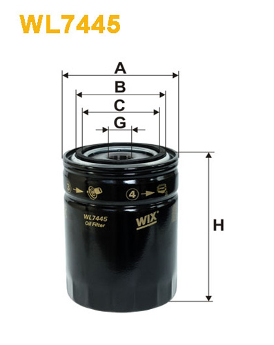 WIX OIL FILTER - SPIN-ON WL7445