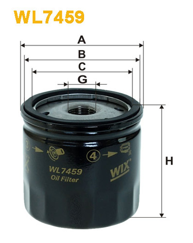 WIX OIL FILTER - SPIN-ON WL7459