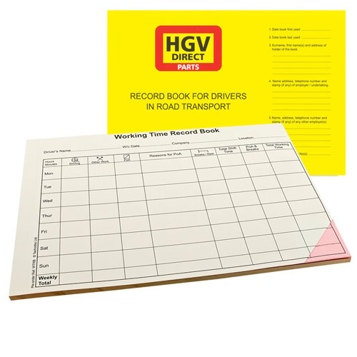 DRIVERS WORKING TIME RECORD BOOK